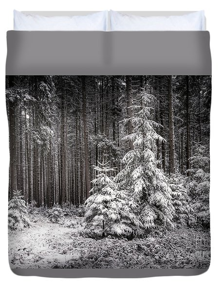 Duvet Cover featuring the photograph Sheltered Childhood by Hannes Cmarits