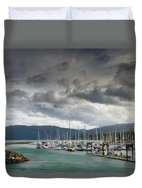Duvet Cover featuring the photograph Sheltered by Dan Mihai