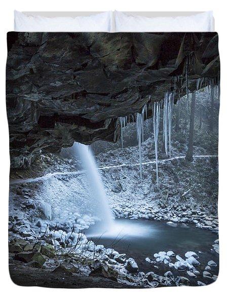Sheltered From The Blizzard Duvet Cover