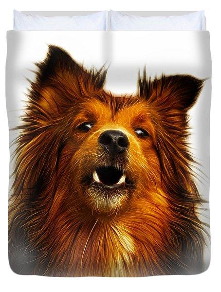 Sheltie Dog Art 0207 - Wb Duvet Cover