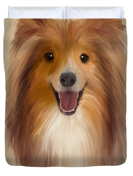 Sheltie Duvet Cover