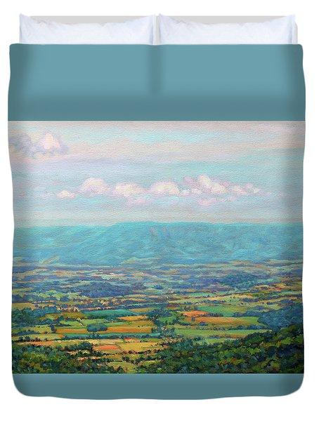 Shenandoah Blue Duvet Cover