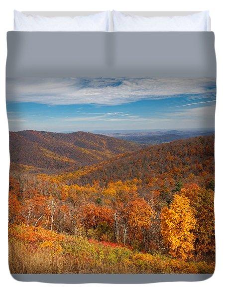 Shenandoah Skyline Duvet Cover