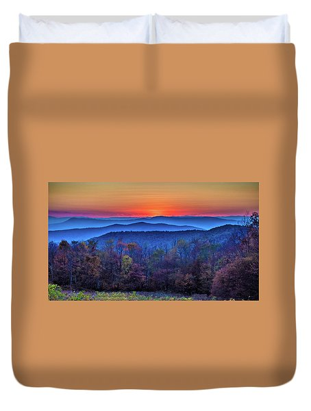 Shenandoah Valley Sunset Duvet Cover
