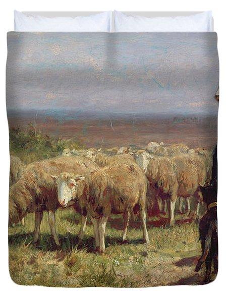 Shepherdess Duvet Cover by Anton Mauve