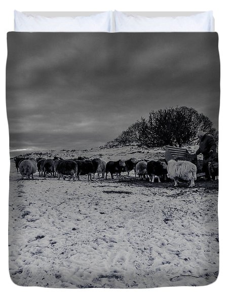 Shepherds Work Duvet Cover by Keith Elliott