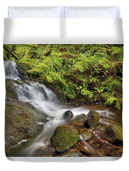 Shepperd's Dell Falls Duvet Cover by David Gn