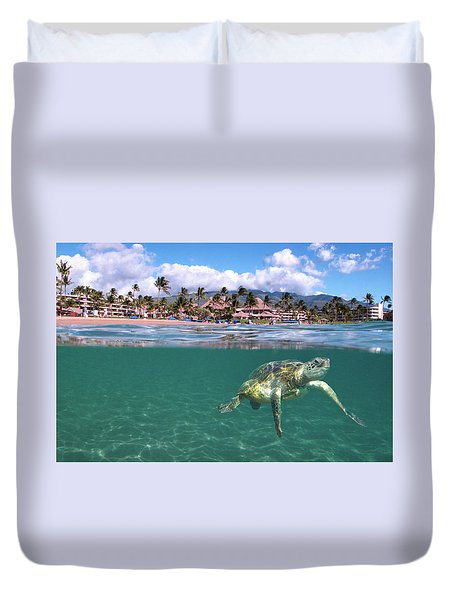 Sheraton Maui Duvet Cover by James Roemmling