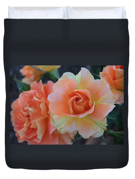 Duvet Cover featuring the photograph Sherbert Rose by Marna Edwards Flavell