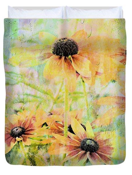 Sherbet Flowers Duvet Cover
