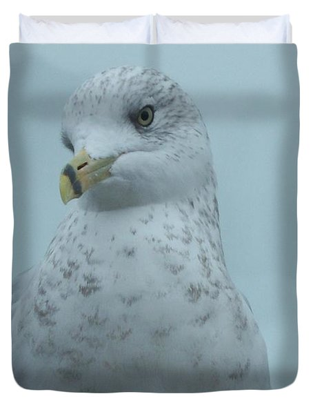She's Over There Duvet Cover