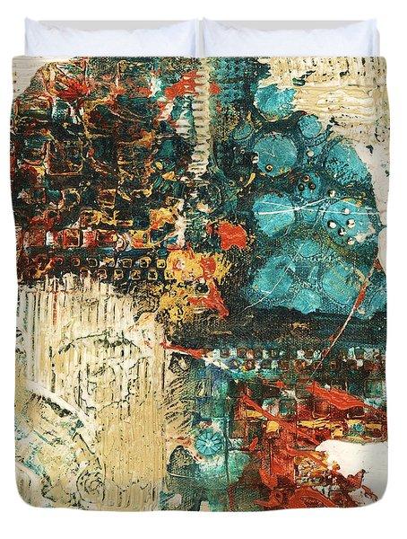 Duvet Cover featuring the painting Shestrak by Alga Washington