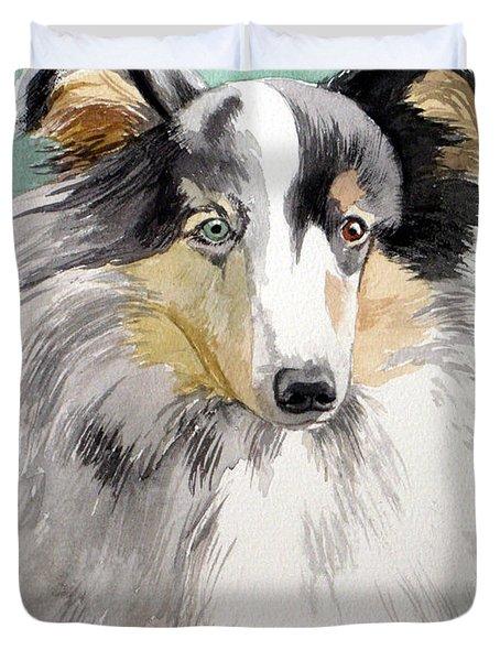 Shetland Sheep Dog Duvet Cover