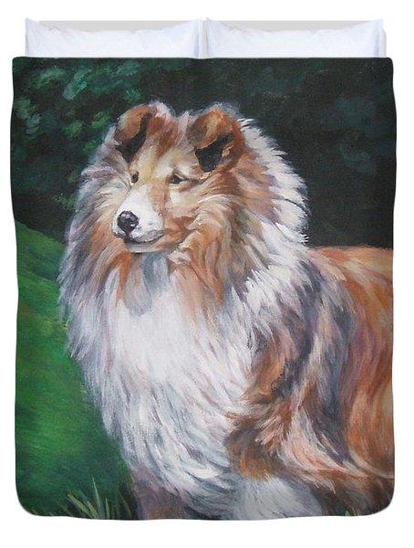 Shetland Sheepdog Duvet Cover by Lee Ann Shepard