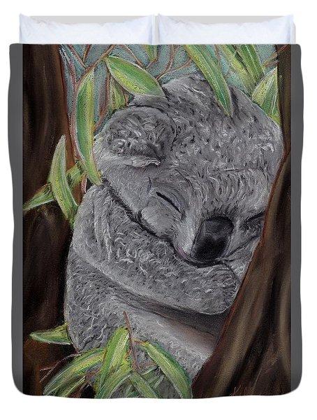Shhhhh Koala Bear Sleeping Duvet Cover