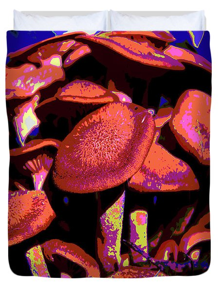 Shimmering Shrooms Duvet Cover by DigiArt Diaries by Vicky B Fuller