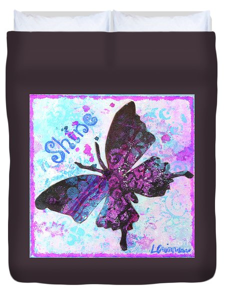 Shine Butterfly Duvet Cover