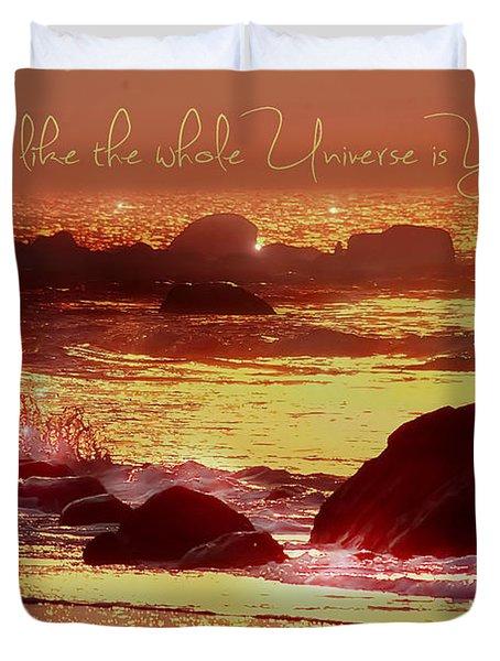 Shine Like The Universe  Duvet Cover
