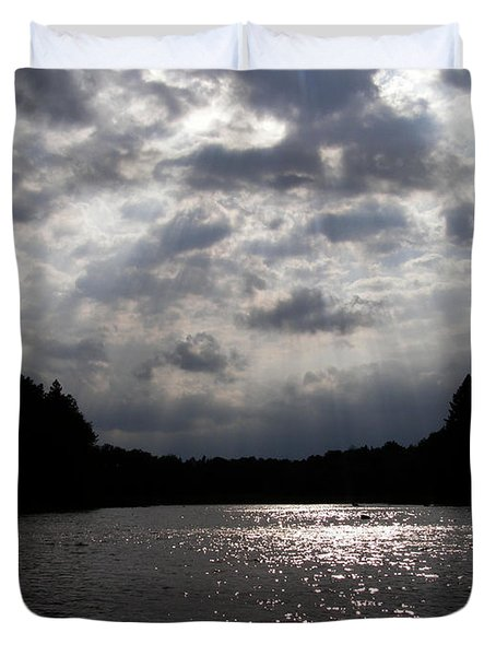 Duvet Cover featuring the photograph Shine On by Angie Rea