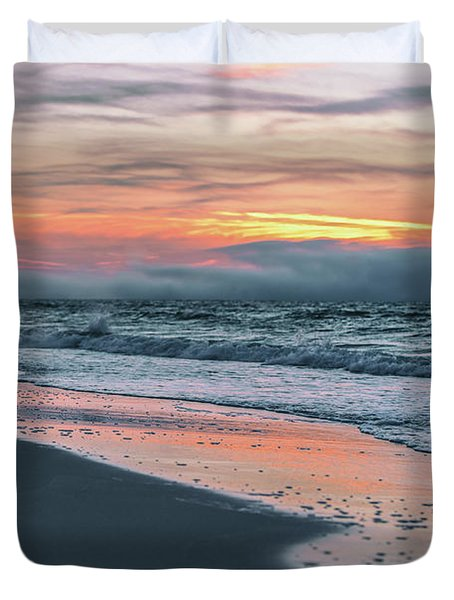 Duvet Cover featuring the photograph Shine On Me Beach Sunrise  by John McGraw
