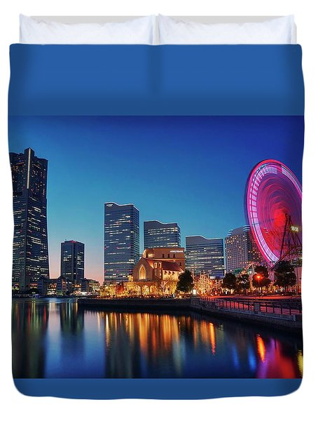 Duvet Cover featuring the photograph Shine On You Crazy Ferris Wheel by Peter Thoeny