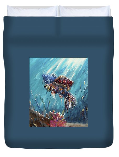 Shine Trough The Ocean Duvet Cover