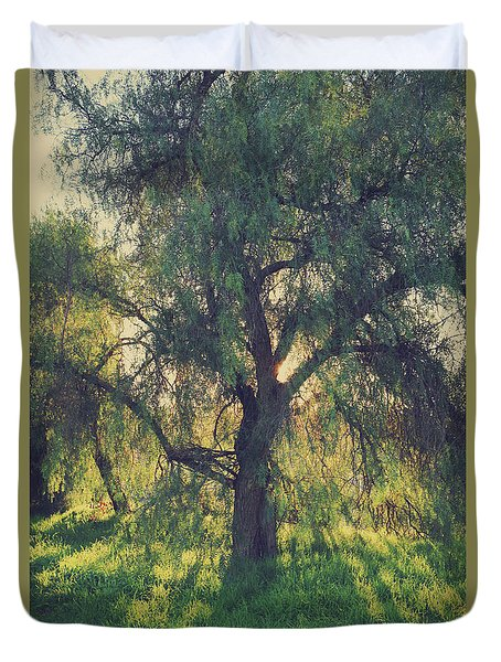Duvet Cover featuring the photograph Shine Your Light by Laurie Search