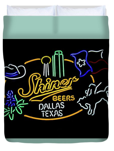 Shiner Beers Dallas Texas Duvet Cover