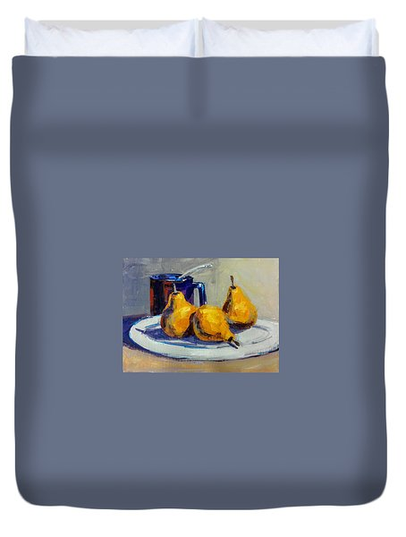 Shiney Blue Mug Duvet Cover