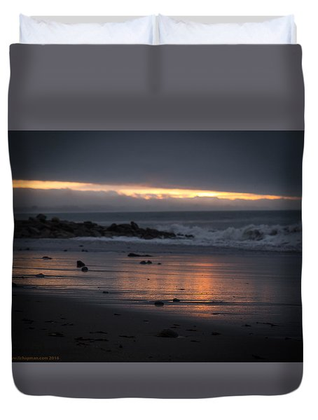 Duvet Cover featuring the photograph Shining Sand by Lora Lee Chapman