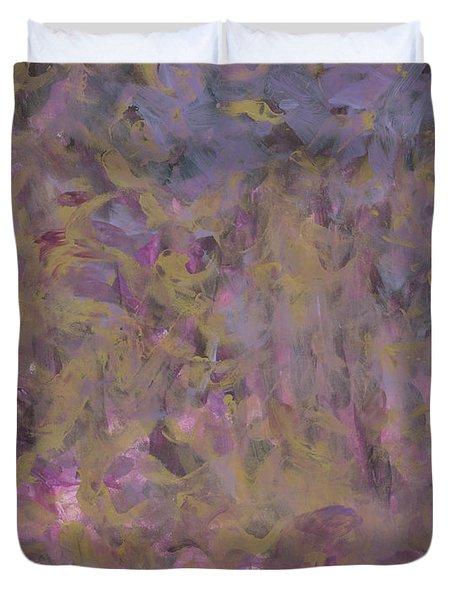 Shining Through The Night - Gold, Purple, Pink, Plum,blue, Black Duvet Cover