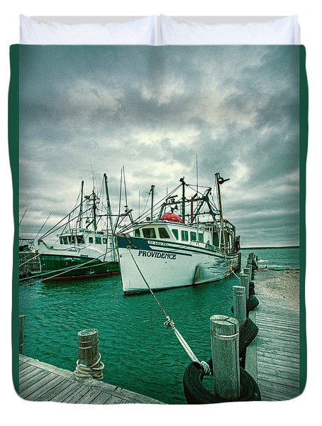 Shinnecock Fishing Vessels Duvet Cover