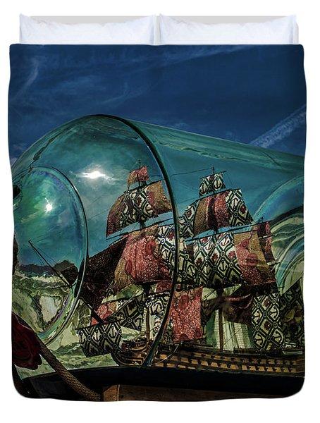 Ship In A Bottle Duvet Cover