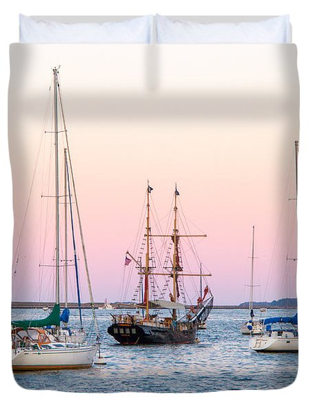 Ship Out Of Time Duvet Cover