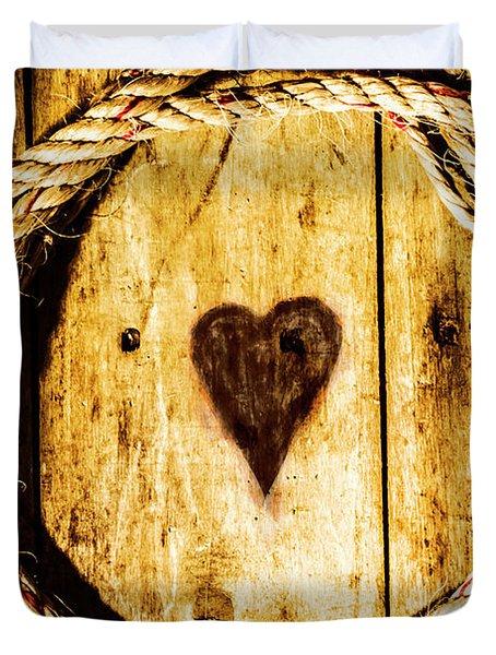 Ship Shape Heart Duvet Cover