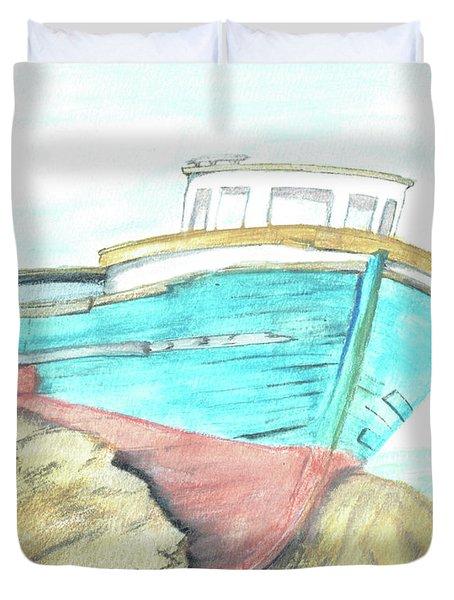 Ship Wreck Duvet Cover