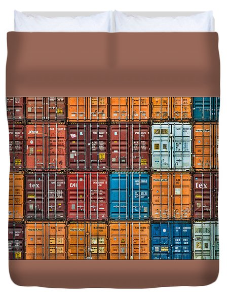 Shipping Containers Duvet Cover
