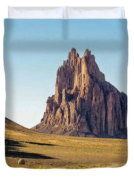 Shiprock 3 - North West New Mexico Duvet Cover by Brian Harig