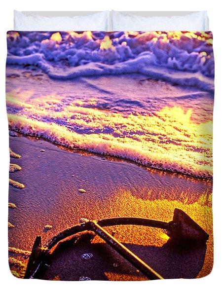 Ships Anchor On Beach Duvet Cover