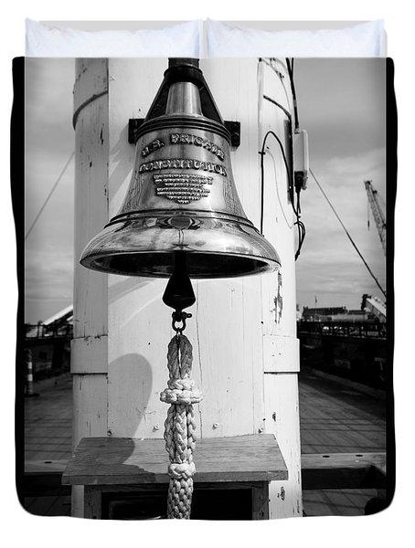 Ships Bell Uss Constitution Duvet Cover