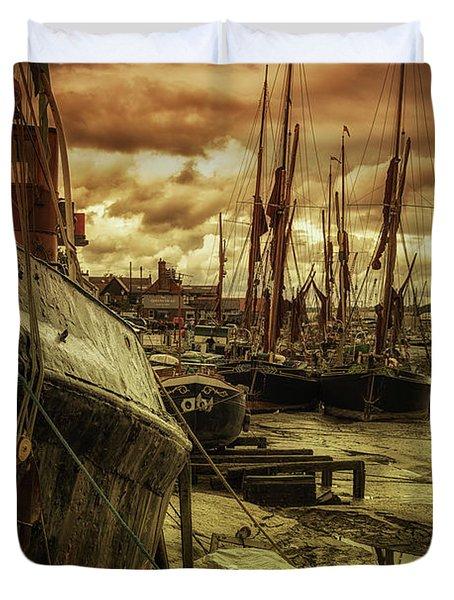 Ships From Essex Maldon Estuary Duvet Cover