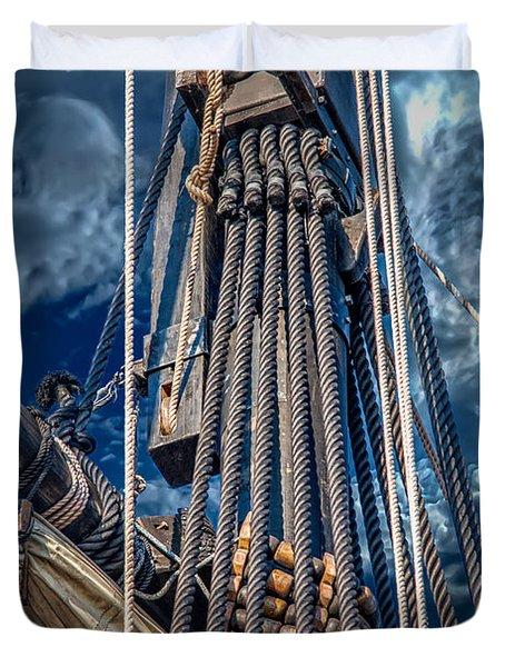 Ships Mast Duvet Cover