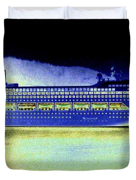 Shipshape 7 Duvet Cover by Will Borden