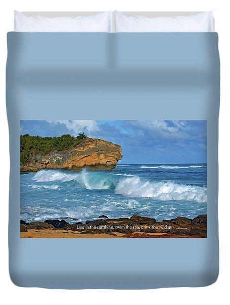 Shipwreck Beach Shorebreaks 2 Duvet Cover