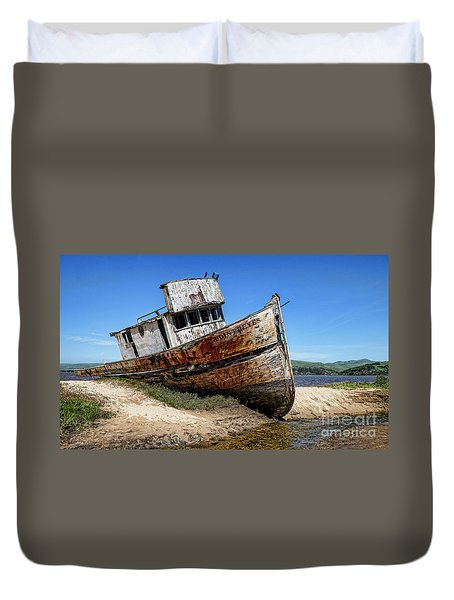 Shipwreck Duvet Cover by Jason Abando