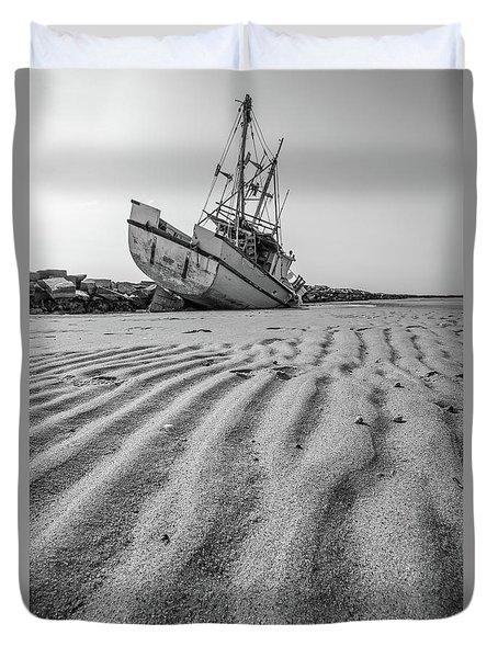 Shipwreck Provincetown Duvet Cover