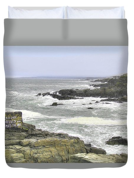 Duvet Cover featuring the digital art Shipwrecked by Sharon Batdorf