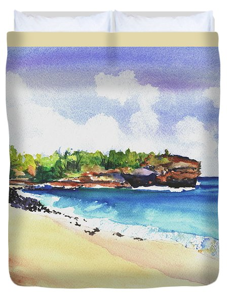 Shipwreck's Beach 2 Duvet Cover