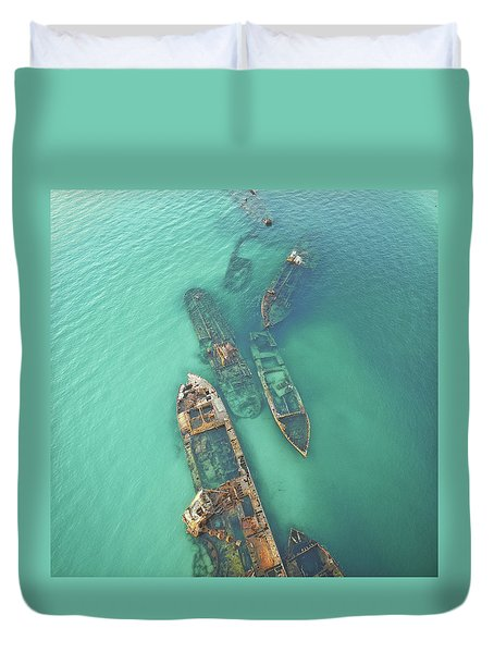 Shipwrecks Duvet Cover
