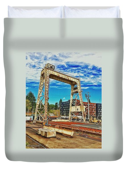 Shipyard Lunch Break Duvet Cover